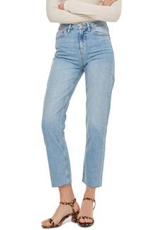 Topshop Raw Hem Crop Straight Leg Jeans (Regular, Petite & Long)