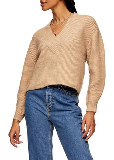 Topshop Rib V-Neck Sweater
