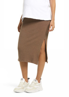 Topshop Ribbed Maternity Midi Skirt