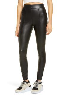 Topshop Sara Faux Leather Skinny Pants (Regular & Petite)