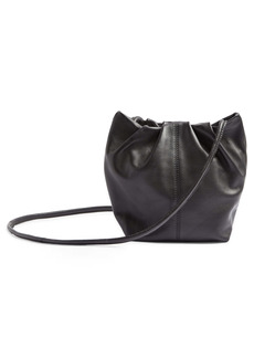 Topshop Small Leather Bucket Bag