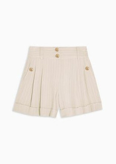 Topshop striped shorts in ivory