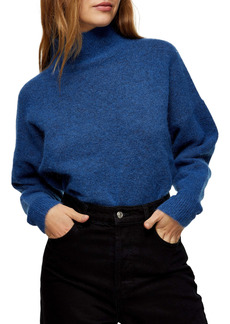 Topshop Textured Funnel Neck Sweater