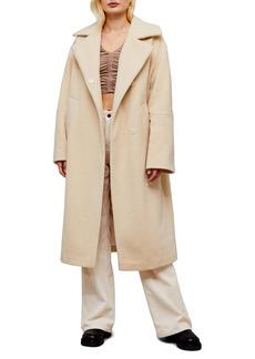 Topshop Textured Long Coat