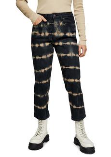 Topshop Tie Dye Crop Straight Leg Jeans (Petite)