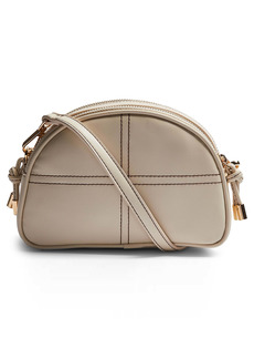Topshop Topstitch Half Moon Crossbody Bag