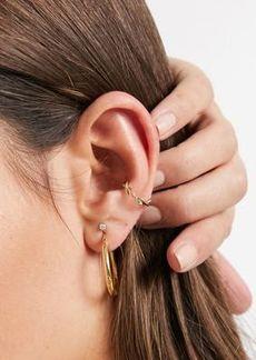 Topshop twist ear cuff in gold