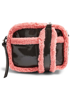 Topshop Vinyl Faux Fur Crossbody Bag