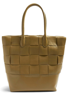 Topshop Weave Faux Leather Tote