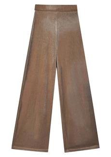 Topshop Wide Leg Velour Pants