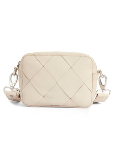 Topshop Woven Leather Crossbody Bag