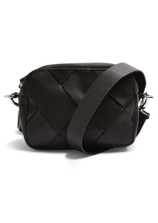 Topshop Woven Leather Crossbody Bag