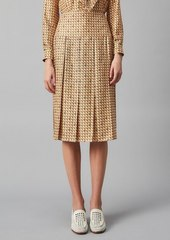 Tory Burch Silk Twill Carmine Skirt