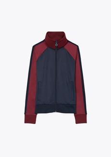 Tory Burch Color-Block Zip Track Jacket