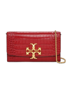 Tory Burch Eleanor Croc Embossed Leather Clutch