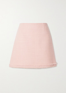 Tory Burch Frayed Wool-blend Tweed Mini Skirt