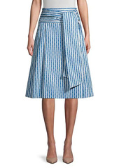Tory Burch Gemini Link Striped Skirt