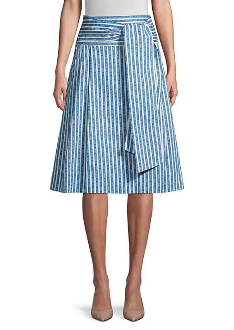 Tory Burch Gemini Link Striped Skirt