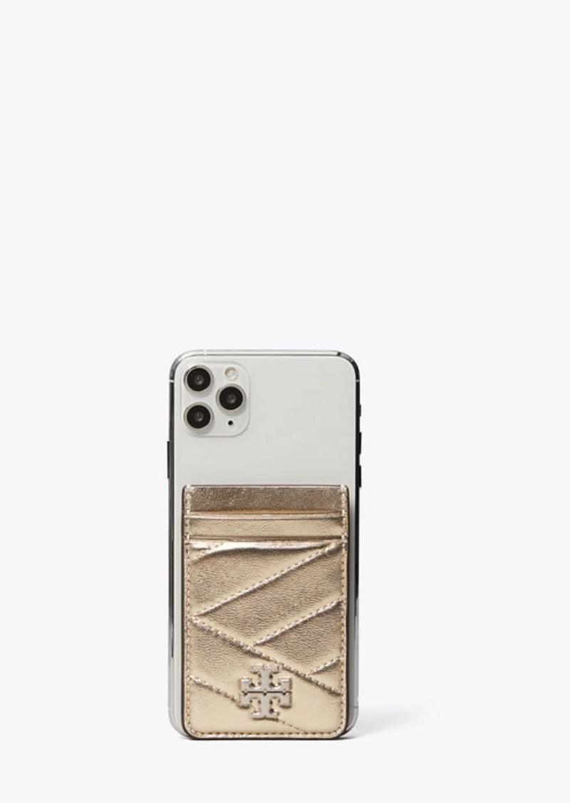 Tory Burch Kira Chevron Metallic Phone Card Pocket