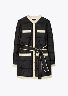 Tory Burch Long Quilted Jacket