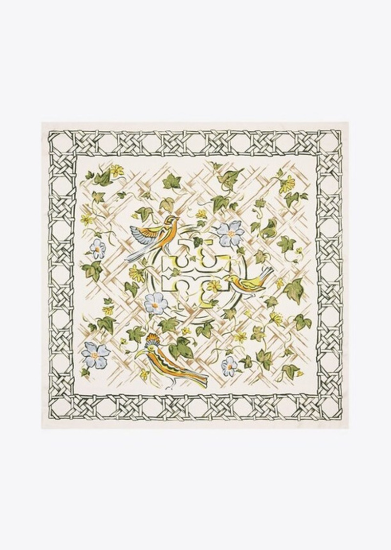 Tory Burch Painted Silk Square Scarf