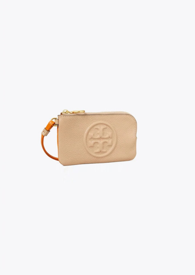 Tory Burch Perry Bombé Color-Block Top-Zip Card Case