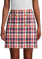 Tory Burch Plaid Pencil Skirt