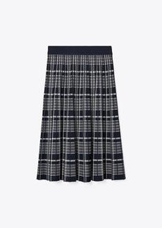 Tory Burch Plaid Pleated Skirt