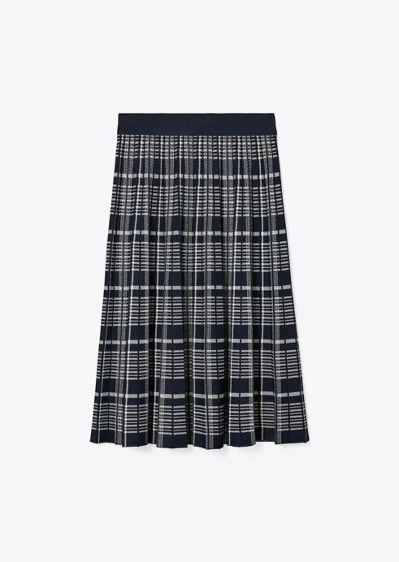 Tory Burch Plaid Pleated Skirt