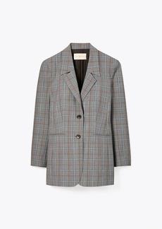 Tory Burch Plaid Wool Blazer