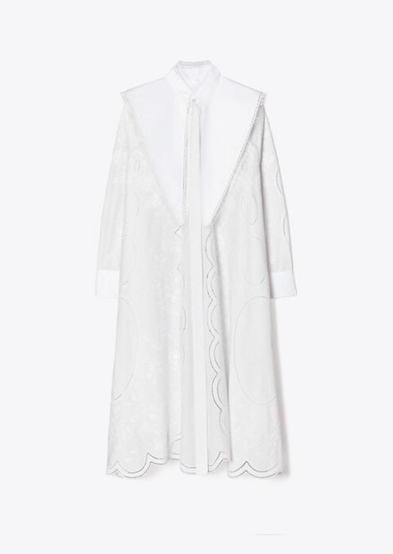 Tory Burch Poplin Embroidered Dress