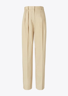 Tory Burch Poplin Pleated Trouser