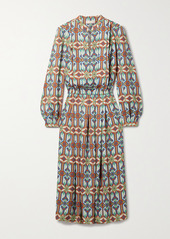 Tory Burch Printed Crepe Midi Dress