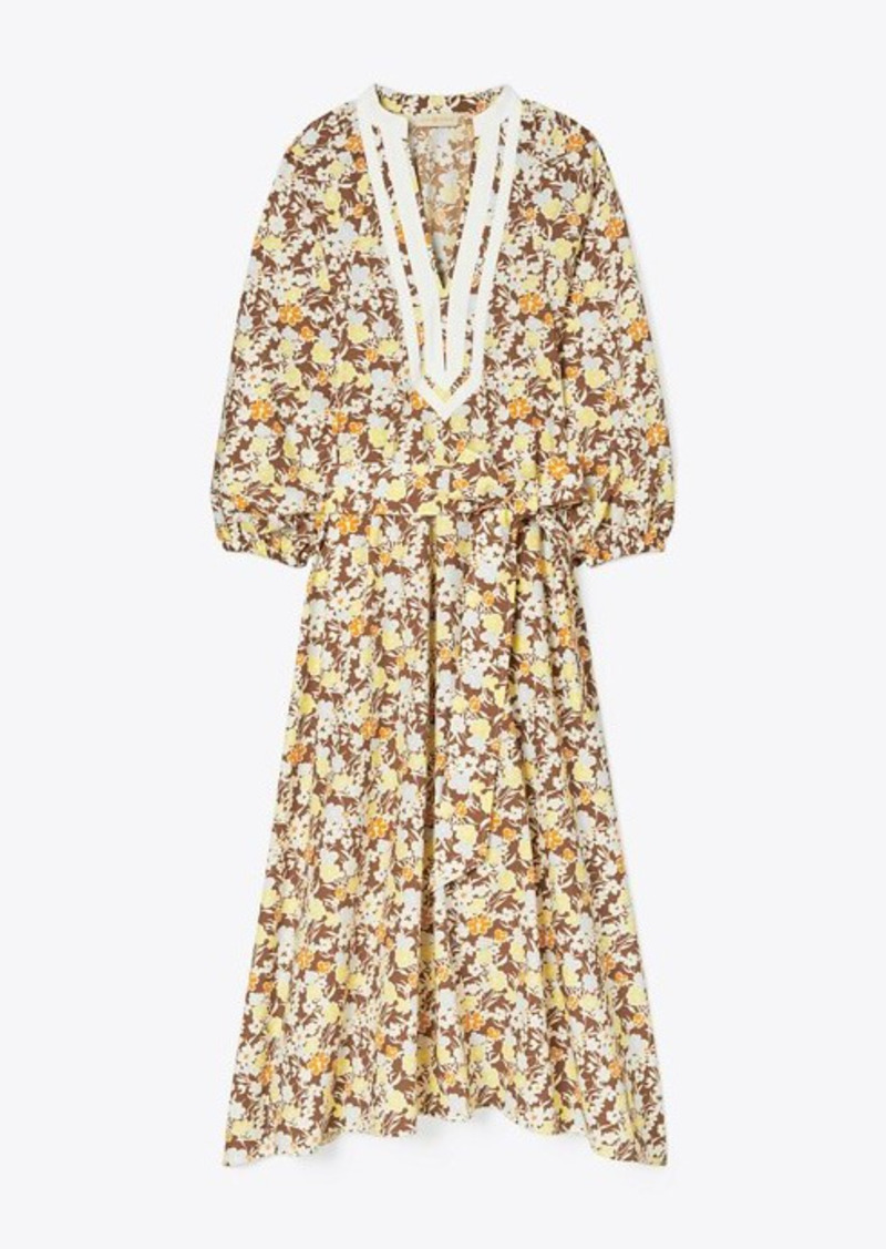 Tory Burch Printed Balloon Sleeve Dress