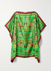 Tory Burch Printed Silk-twill Kaftan