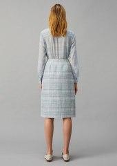 Tory Burch Printed Twill Crepe Wrap Skirt