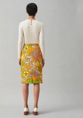 Tory Burch Printed Twill Pencil Skirt