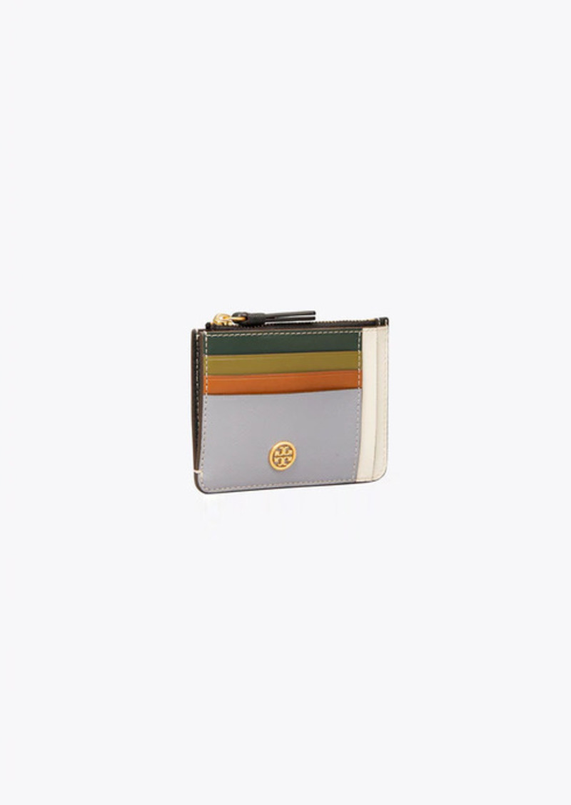 Tory Burch Robinson Color-Block Card Case
