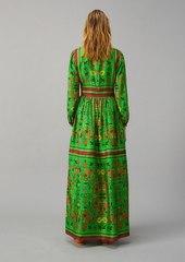 Tory Burch Silk Scarf Printed Long Dress