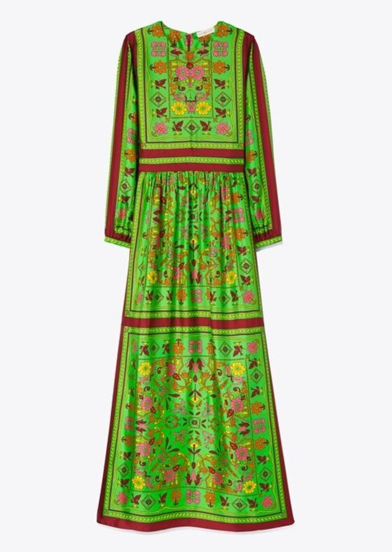 Tory Burch Silk Scarf Printed Long Dress