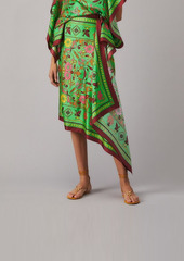Tory Burch Silk Scarf Sarong Skirt