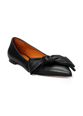 Tory Burch Bow Pointed Toe Flat (Women)