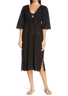 Tory Burch Broderie Midi Cover-Up Dress