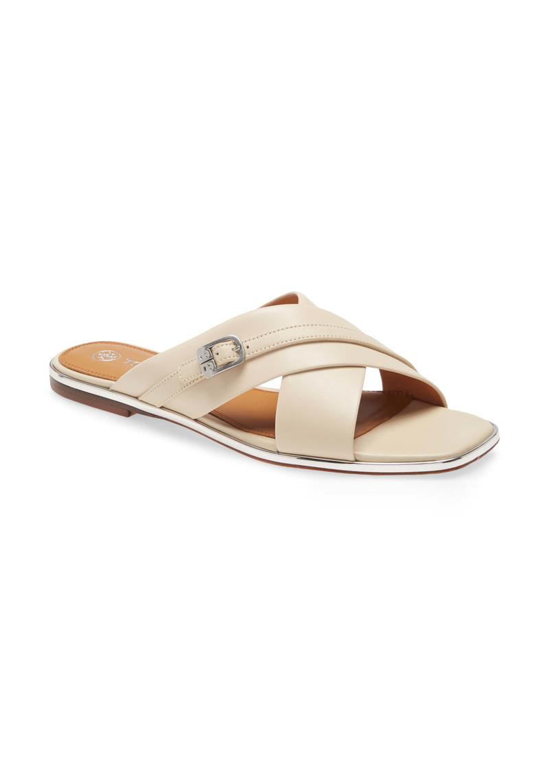 Tory Burch Delaney Crisscross Slide Sandal (Women)