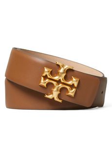 Tory Burch Eleanor Logo Leather Belt