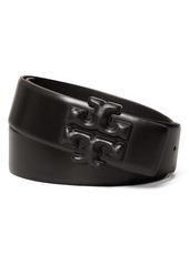 Tory Burch Eleanor Logo Leather Belt