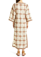 Tory Burch Embroidered Caftan Dress