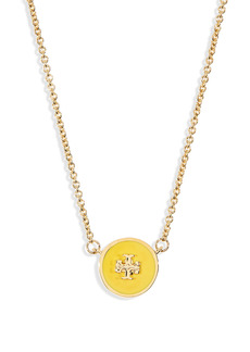 Tory Burch Enamel Pendant Necklace