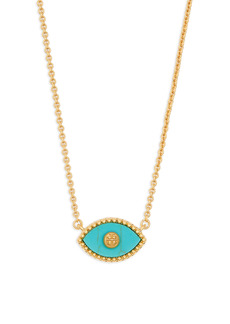 Tory Burch Evil Eye Pendant Necklace