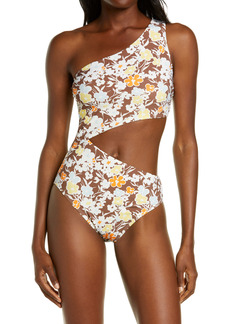 Tory Burch Floral Cutout One-Piece Swimsuit